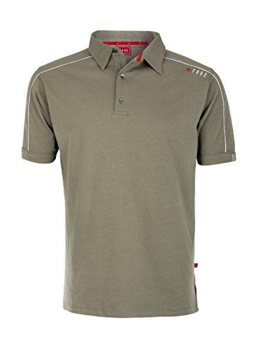 XFORE Golf Herren Kurzarm Poloshirt mit Kontrast, Chicago, in Grün Khaki, Größe L (Golf Shirt Khaki)