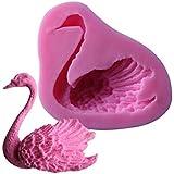 joyliveCY Swan Form Zucker Fondant Kuchen Form Scherblock Werkzeuge verziert Silikon Sugar Mold DIY