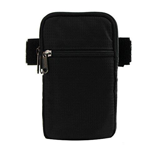 Zhudj indossare cintura tasche _ 2017nuovo abbigliamento borsa tasca cintura braccio braccio pollici impermeabile corsa grande schermo del telefono mobile, Black Black
