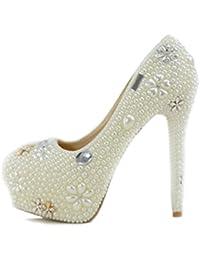 Minitoo MinitooUK-MZ8244 - Zapatos de Vestir de Material Sintético Para Mujer
