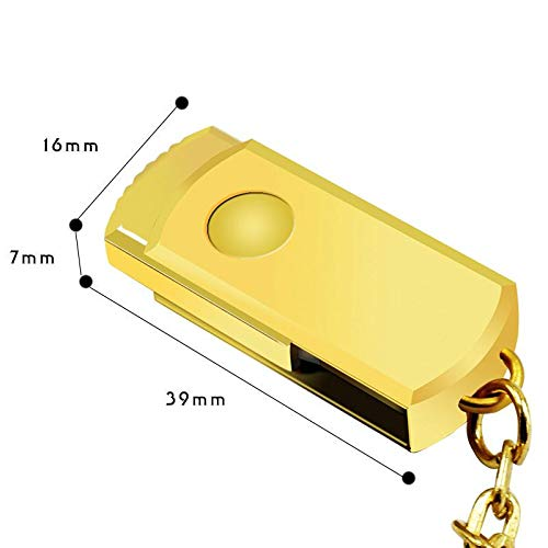 Rabusion Portable USB-Stick Mini-Metall-SCHL¨¹sselanh?nger U Disk Storage Drive Gold 8GB (Disk Storage)