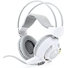 Xiberia V3 Headphones with Mic and LED for PC, PS4, Xbox One, Laptop, PC, iPhone and Android Phones (White)