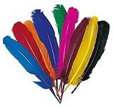 Indianer-Federn, verschiedene Farben, 12Stück