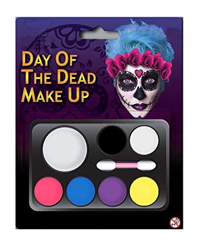 Islander Fashions Erwachsenen Tag der Toten Multi Palette Make up Kit Unisex Halloween Party Zubeh�r (Tag Der Toten Make Up Kit)