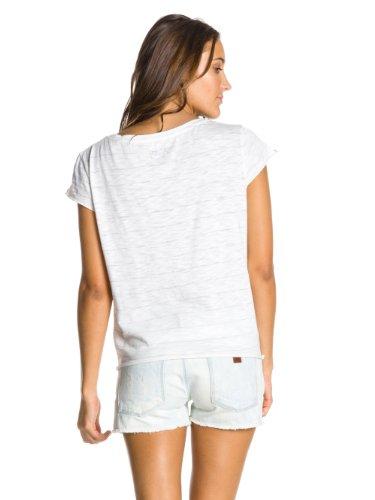 Roxy - Maglietta a righe, manica corta, donna Grigio (Grey (Heritage Aruba))