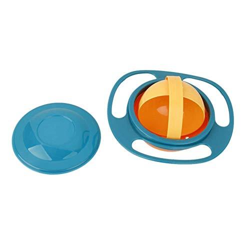Hemore Non Spill Füttern Kleinkind Gyro Bowl-lustiges Spielzeug-Baby-Trainning Geschirr Schüssel Geschirr 360 Dgree Rotation spritzwassergeschützte Gyroskop Bowl Fliegen-Scheibe Schüsseln mit Deckel