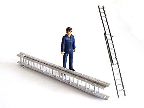 Maßstab: 1: 32(54mm) Farm Miniatur Metall Leiter Set 1wm056
