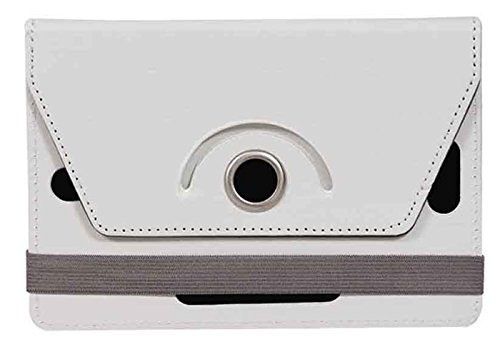 Jkobi Exclusive Tablet Book Flip Case Cover For Swipe MTV Slash 4X (Universal) -White  available at amazon for Rs.170