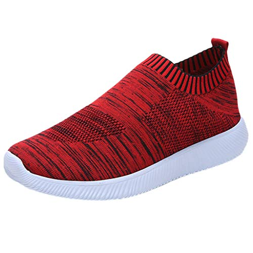 Produp Frauen Outdoor Mesh Einfarbig Sportschuhe Runing Atmungsaktive Schuhe Turnschuhe Rutschfeste Mutterschaft Schuhe Freizeitschuhe Faule Schuhe