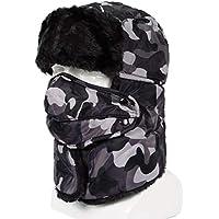 0439e0c7598 VelvxKl Ultra-Thick Winter Men Women Face Neck Outdoor Warm Windproof  Snowproof Hat Cap Beanie