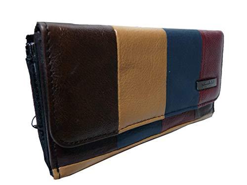 Große Damen Gerahmtes Leder Geldbörse Handtaschen 20 Kreditkarte Fächer 2 Münze Schalen QL844 - Multi - Gerahmte Geldbörse Aus Leder