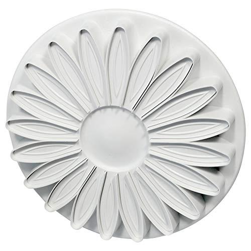 PME SD617 Prägeausstecher mit geäderter Sonnenblume/Margerite/Gerbera, 20 Blütenblätter, Kunststoff, Weiß, 5 x 5 x 5 cm (Gerbera Daisy Cutter)