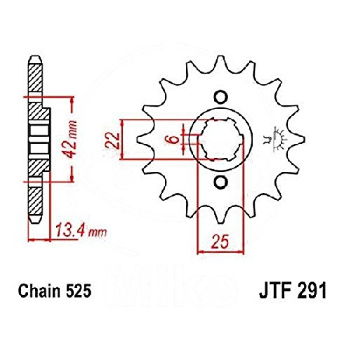 jtSprockets Pignone Honda CMX 450 C Rebel 15 denti 525 JTF291.15