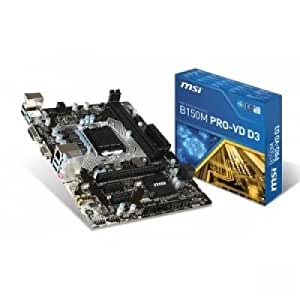 MSI LGA 1151 Intel B150 SATA 6Gb/s USB 3.1 Micro ATX Intel Motherboard Model B150M Pro-VD