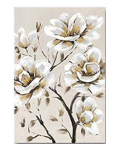 Wowdecor - Cuadro Decorativo para Pared, diseño de Flores de Magnolia Blanca, para decoración de la Pared, para el hogar, Sala de Estar, Dormitorio, Large