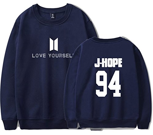 SERAPHY Unisex BTS Felpa Felpe con cappuccio BTS Love Yourself Pullover girocollo super confortevole Suga Jin Jimin Jung Kook J-Hope Rap-Mostro V reale-94-J HOPE