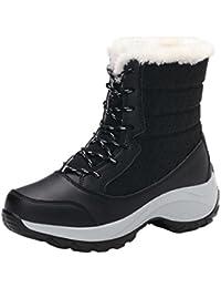 Botas Mujer de Invierno Botas de Trabajo y Exterior Zapatos de Nieve de Tobillo Caliente por ESAILQ