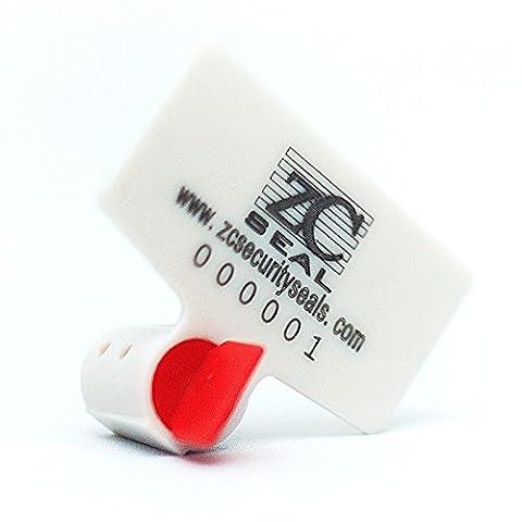 Zhengcheng (R) ronde haute sécurité électrique Mètre Twist hermétique avec de grands Tag (lot de 100)