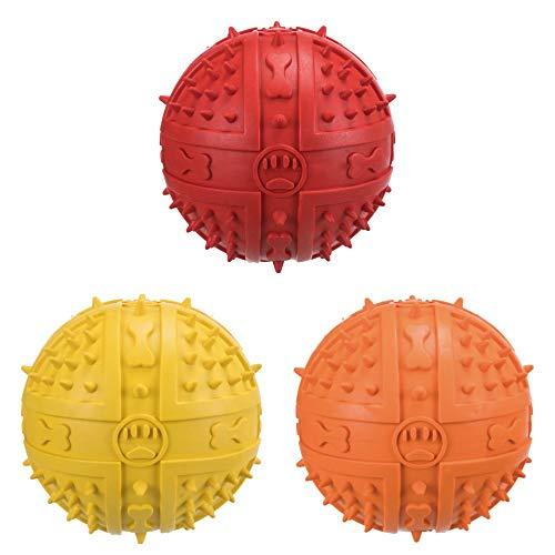 Sortiment von 4Soft Gummi Bouncy Ball Hundespielzeug-Medium 9cm-mit Sound. (Bouncy Balls Bulk)