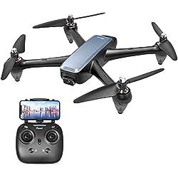 Potensic Drone GPS FPV sans Balai FPV, Drone D60 avec Caméra 1080P Quadricoptère RC pour Adultes avec Moteurs brushless puissants, Suivez-Moi Retour GPS Transmission WiFi 5G 20min de Vol
