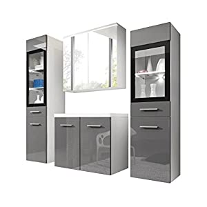 Badezimmermöbel Set mit Spiegelschrank günstig online kaufen ...