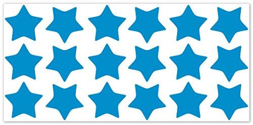 wandfabrik - Fahrradaufkleber - 18 tolle Sterne in hellblau