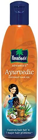 Parachute Advansed Ayurvedic Coconut Hair Oil, Hair Oil, Controls Hairfall and 7 Major Hair Problems, 300 ml