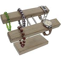 Uhrenhalter Armbandhalter Schmuckhalter Schmuckständer Handarbeit Eiche weiß geölt (Befestigung mittig).