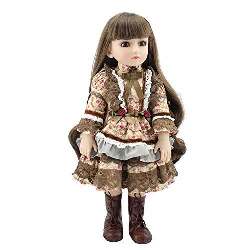 Muñecas Honey MoMo Reborn Baby Dolls, 45 cm, vinilo de silicona para pelo largo para bebé niña o niño acompañante juguete regalo