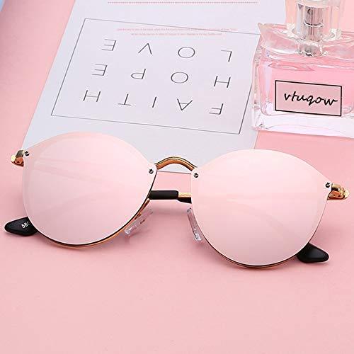 WSXCDEFGH Nette rosa Spiegel Sonnenbrille Frauen randlose cat Eye Sonnenbrille Sonnenbrille Damen Brillen