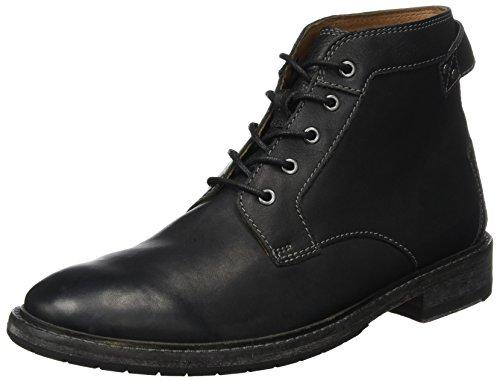 (Clarks Herren Clarkdale Bud Klassische Stiefel, Schwarz (Black Leather), 41 EU)