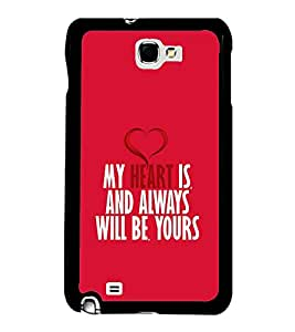 FUSON Always And Forever Heart Designer Back Case Cover for Samsung Galaxy Note 2 :: Samsung Galaxy Note Ii N7100