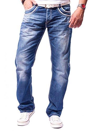 CIPO & BAXX Herren Jeans Clubwear Straight-Cut Blau