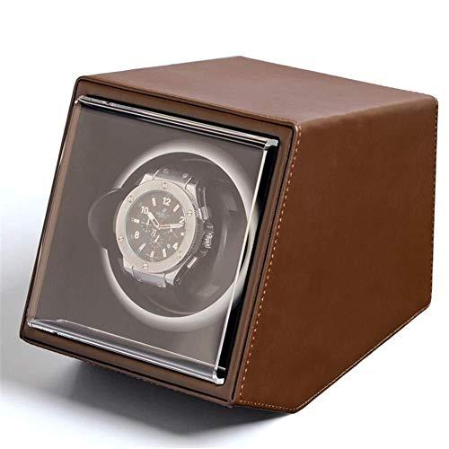 Yeer Single Luxury Automatic Uhrenbeweger antimagnetisch mit Schublade aus Holz Aufbewahrungskoffer 2 Netzteil Mode-13 × 19 × 15CM (Color : B) -