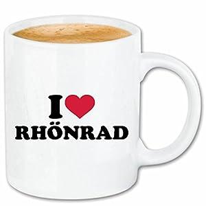 Kaffeetasse I LOVE RHÖNRAD - RHÖNRAD FAHREN - RHÖNRAD KAUFEN - RHÖNRAD LEIHEN...