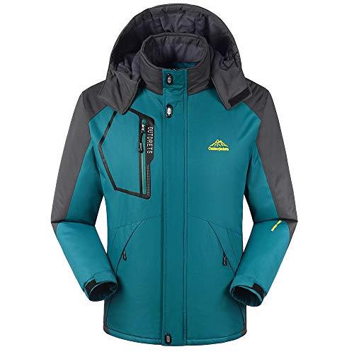 Sannysis Herren Jacke Herbst & Winter Langarm Übergangsjacke Outdoor Cashmere Verdickung Zipper Hoodie Sport Assault Coat Mantel