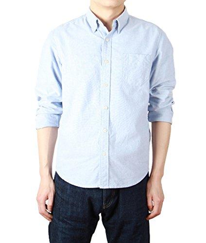 bii-free-camicia-casual-camicia-basic-con-bottoni-maniche-lunghe-uomo-bleu-clair-xxl
