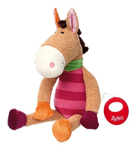 sigikid, Mädchen, Spieluhr, Stofftier Pferd, Jappy Jump, Pink/Beere, 41434