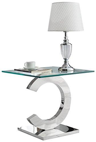 Derrys Cc Moderno Cromato Top End Lampada Da Tavolo In Vetro Vetro