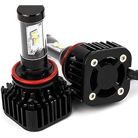 Bettertol 2 Piezas H11 HID lámpara de xenón Faro Bombilla del reemplazo Reemplazo Impermeable Brillante Seguridad Conveniente para Motos y Coches K8 3.0A (MAX) 80W /