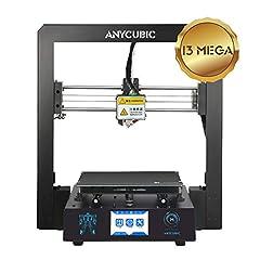 Idea Regalo - Stampante 3D ANYCUBIC I3 Mega grande formato di stampa 210 x 210 x 205mm tutta in Metallo con Ultrabase brevettato brevettato e Touch Screen da 3,5 pollici Compatibile con PLA, ABS, HIPS, Legno