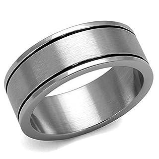 Amelia Fashion Stainless Steel High Polish No Plating Ring (10)