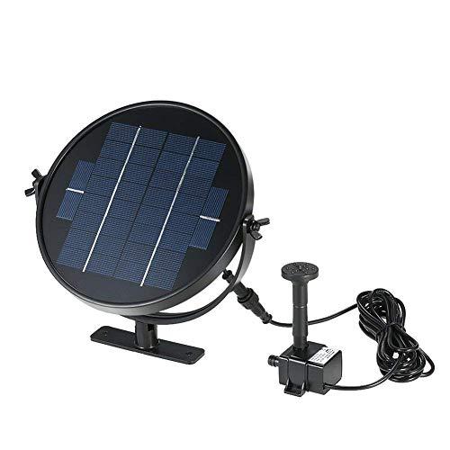 Nombre del tamaño: 9V/3WEl producto es un kit de fuente decorativa alimentado por energía solar mediante la utilización de la potencia solar para conducir la bomba en unos pocos segundos (suficiente sol). Es perfectamente adecuado para jardín, baño d...