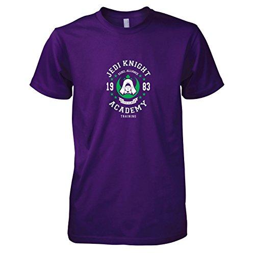 TEXLAB - Jedi Knight Academy - Herren T-Shirt, Größe XXL, violett