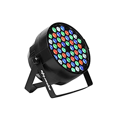 Eyourlife 54X3W LED PAR Light RGBW 162Watt Magic Effect DMX 512 Stage Lighting Disco Projector
