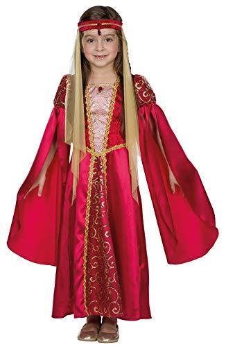 Rubie's Rubies Kostüm Mittelalter Prinzessin rot Kleid Kinder Fasching/Karneval - 128