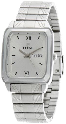 41Ph89BnEtL - Titan NE1581SM03 Karishma Silver Mens watch