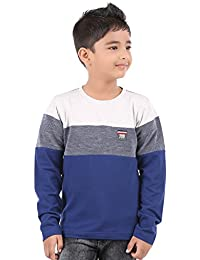 BodyGlove Boy Kids Casual Round Neck Printed T-Shirt, Full Sleeve, Cotton