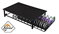 Shine Tassimo Coffee Pod Holder - 60Pc Capsules Stackable Stand - Anti Vibration Non Slip Surface - Mesh Drawer Rack- Black- Doubles As Coffee Machine Stand
