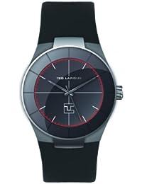 Ted Lapidus - 5122801 - Montre Homme - Quartz Analogique - Cadran Noir - Bracelet Cuir Noir